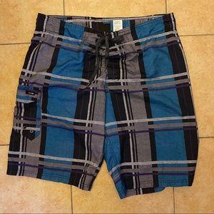 Plaid Swim Shorts